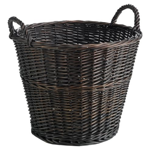 Tesco Large Round Basket Chocolate Colour