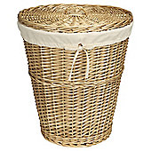 Tesco Basic Wicker Laundry Basket, Honey