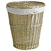 Tesco Basic Wicker Laundry Basket - Honey Coloured