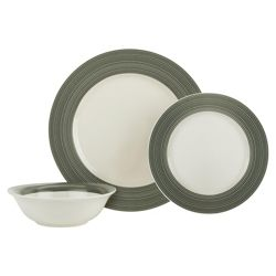 Tesco Manhattan 12 Piece, 4 Person Dinner Set - Green