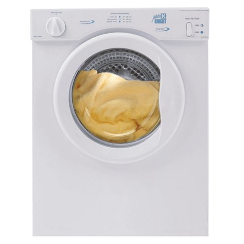 White Knight 372wv Compact Vented Tumble Dryer, 3 kg Load, D Energy Rating. White