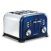 "Morphy Richards 77-747"" Accents 4 Slice Toaster - Blue"""