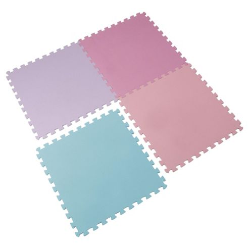 Tesco 4 Foam Mats Interlocking Playmats