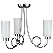 Tesco Lighting Cylinder Ceiling Fitting 3 Light