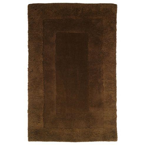 Tesco Rugs Tiered Wool Rug, Chocolate 150X240Cm