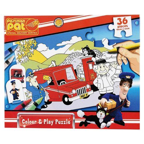 Postman Pat Colour & Play Puzzle