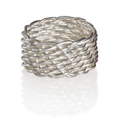 Sterling Silver Mesh Weave Ring, Small