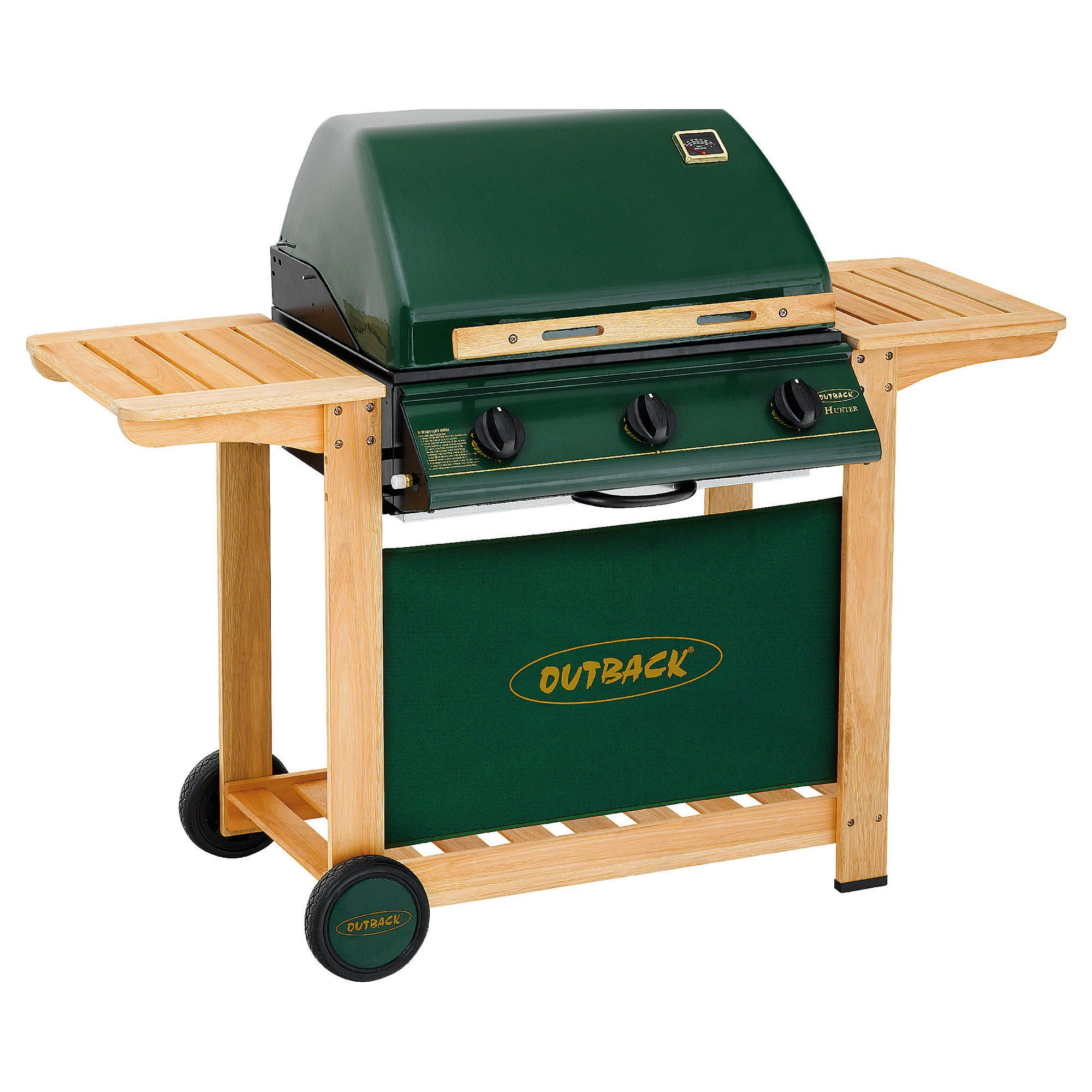 Outback Hunter 3 Burner Gas BBQ with Cover. at Tesco Direct