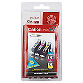 Canon CLI-521 Printer Ink Cartridge - Multipack (Cyan, Magenta, Yellow)