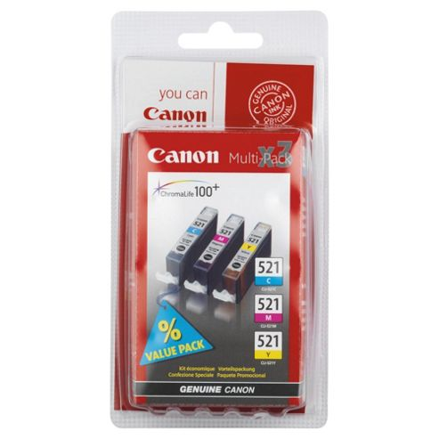 Canon CLI-521 Printer Ink Cartridge - Tri-Colour