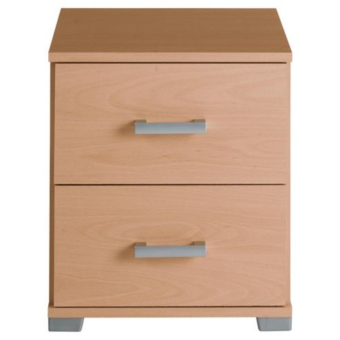 Fresno Bedside Table, Beech Effect