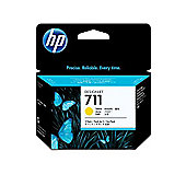 Hewlett-Packard CZ136A No.711 Ink Cartridge 29ml (Pack of 3) -Yellow