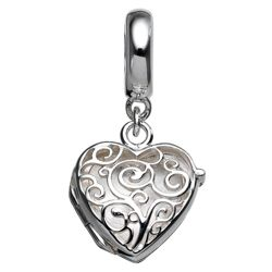 Truth Silver Heart Drop Charm