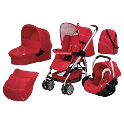 Hauck Condor Trioset Travel System, Red