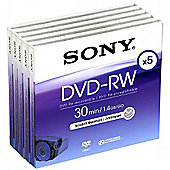 Sony DVD-RW spindle - pack of 5