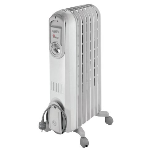 De'Longhi Vento VV550715 Electric Oil Filled Radiator White