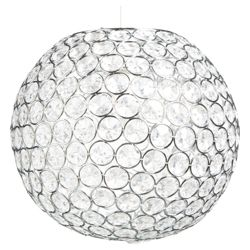 Tesco Lighting Disco Ball Pendant Clear