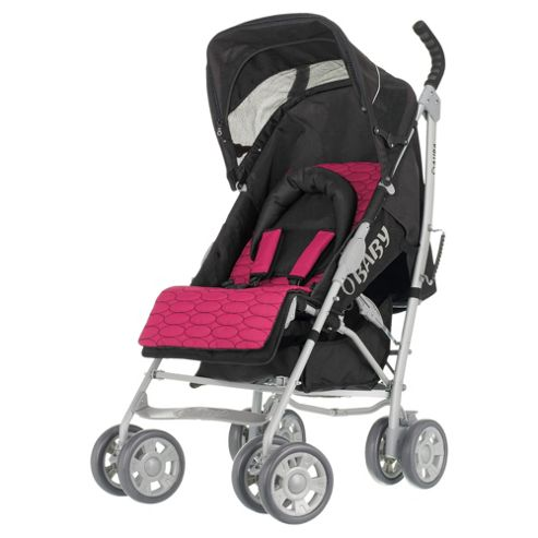Obaby Aura Deluxe Pushchair With Pink Accessory Pack