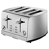 Russell Hobbs 18117 Deluxe 4 Slice Toaster - Stainless Steel