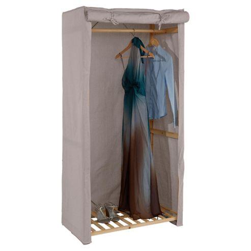 Tesco Single wardrobe, Cream