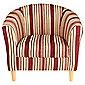Tub Chair Stripe Mulberry