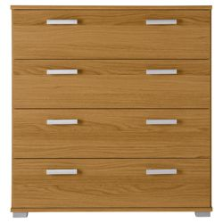 Fresno 4 Drawer Chest, Oak-Effect