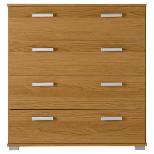 Fresno 4 Drawer Chest, Oak Effect
