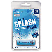 Intergral USB 2.0 Splash Drive 4GB Blue