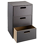 Tesco Faux Leather 3 Drawer Unit