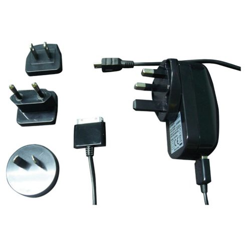 World Travel AC Adaptor for iPod/iPhone and Mini USB device