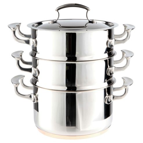 Professional Go Cook Stainless Steel 3 Tier Steamer