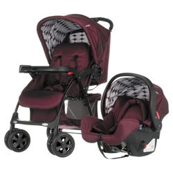 Obaby Monty Pushchair Travel System, Berry