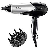 BaByliss 2100w Dry & Curl  Hair Dryer Black/Silver