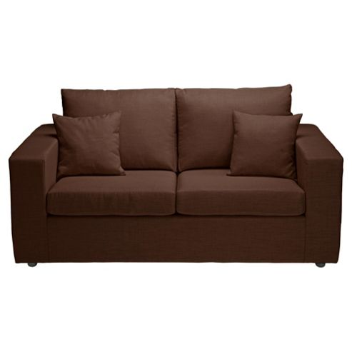 Maison Small Fabric Sofa, Chocolate