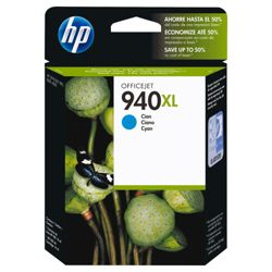 HP 940XL Printer Ink Cartridge - Cyan (C4907AE)