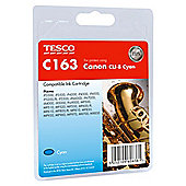 Tesco C163 Cyan Printer Ink Cartridge (Compatible with printers using Canon CLI-8 Cyan Printer Ink Cartridge)
