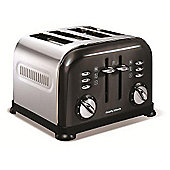 Morphy Richards 44733 Accents 4 Slice Toaster - Black