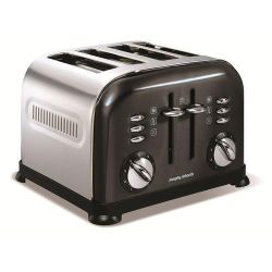 Morphy Richards 44733 4 Slice Toaster - Black