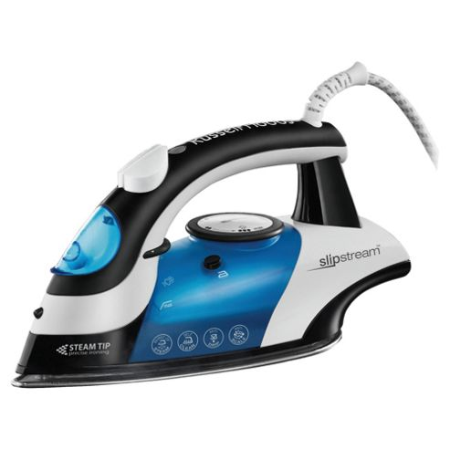 Russell Hobbs 15129  Slipstream Steam Iron with Stainless Steel Sole Plate - White/Blue