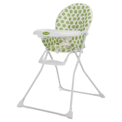 Obaby Munchy Highchair, Dotty Lime