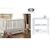 Obaby Lincoln Mini Cotbed and Open Changer - White