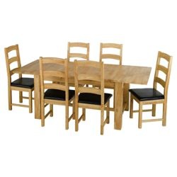 Tuscany 6 Seat Set, Oak