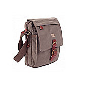 TRP0211 Troop London Classic Canvas Across Body Bag Brown