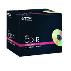 TDK CD-R 52X 10 pack