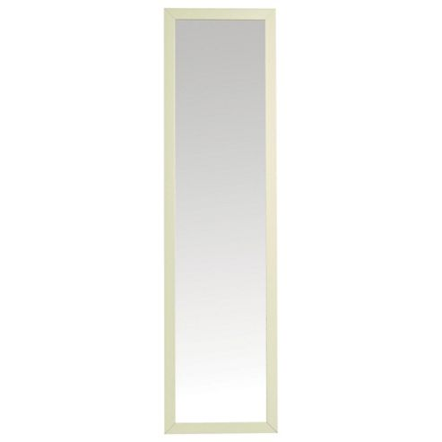 Basic Cheval Mirror - Ivory Effect