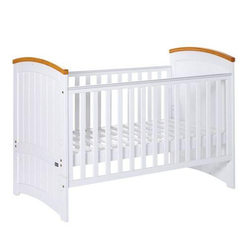 Tutti Bambini Barcelona Cot Bed, Beech/White