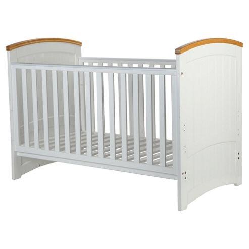 Tutti Bambini Barcelona Cot Bed, White & Natural