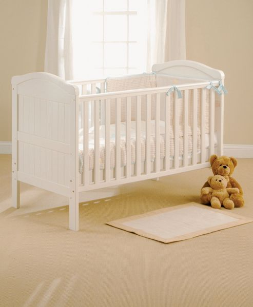 East Coast Country Cot Bed, White