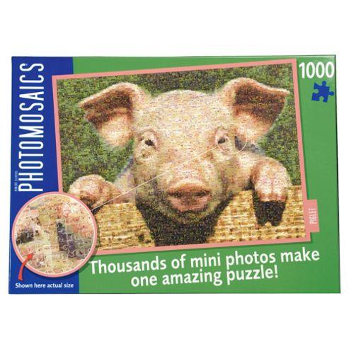 Paul Lamond Photomosaic Pig Puzzle 1000 piece