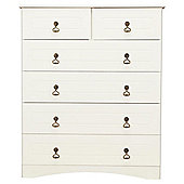 Hampshire 6 Drawer Chest, White